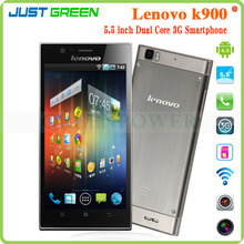 New Lenovo K900 Mobile Phone Dual Core 5.5inch Corning 2 Gorilla Android 4.2 2GB 16GB Intel Atom Z2580 mobile phone