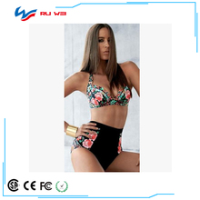 Fashion Swimsuit Cute Girl Halter High Waist Bathing Suit