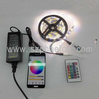 5M RGBW RGBWW LED Strip Light 5050 SMD + Wifi Controller By Phone APP + Power