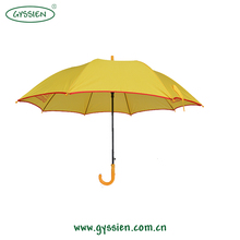 promotional yellow straight ruffle umbrella