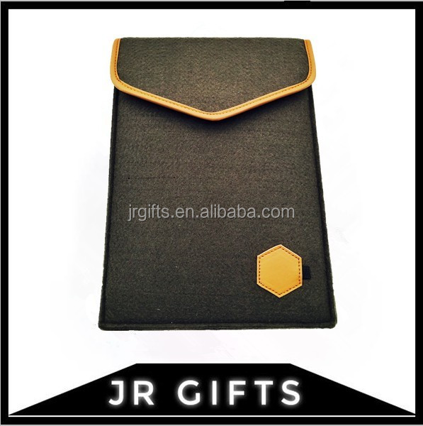 Custom Wool Felt Sleeve Carrying Case pouch bag for iPad air