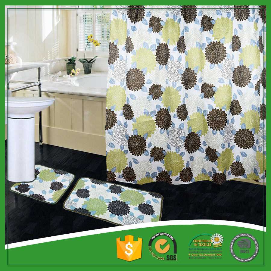 Wholesale Custom Printed Bathroom Curtain