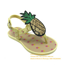 New girls fancy flat sandals design for kids girls