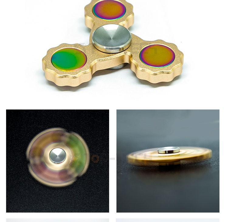 2017 Newest Fidget Spinner, EDC ADHD Focus Toy Ultra Durable High Speed Metal Spinner 1-5 Mins Spins Precision Brass Mate