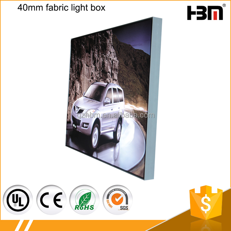 Customized wall mount advertising led light box with scrolling poster display