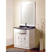 pure white wood bathroom furniture