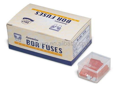 Car Fuse, Auto Parts, UL or Non UL Approved PC & Metal Auto Parts Standard Blade Auto Fuse 32V DC