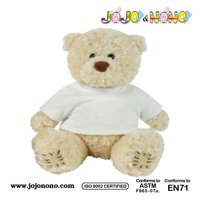 2015 soft toy white teddy bear t-shirt