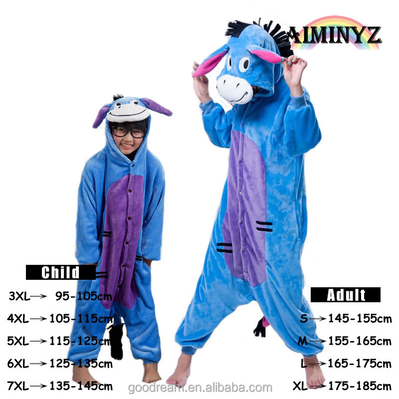 AIMINYZ Chinese supplier animal plus size cartoon flannel family pajama