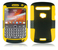 PC+Silicone case Mesh Combo Case for black berry 9900