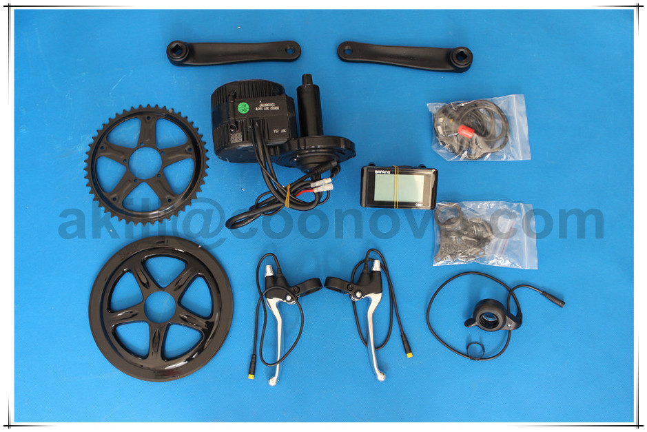 36v 350w 8Fun middle motor 8-fun E BIKE kit BBS-01 with bottle type battery