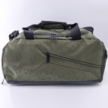 Men fashion waterproof weekend gym travel duffle bag with shoe compartment