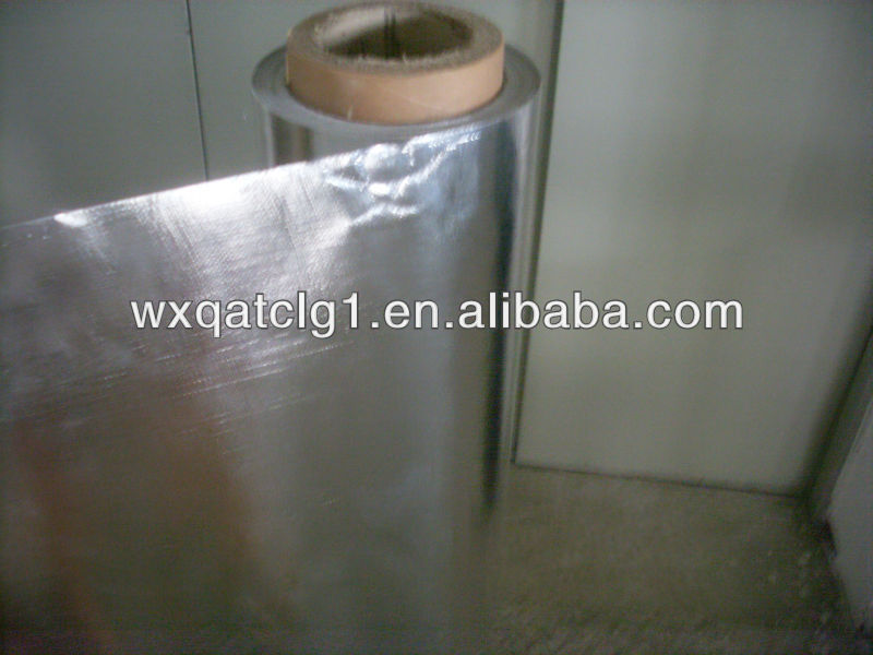 Heat treated Aluminum foil rubber coated fabric,laminate wall covering