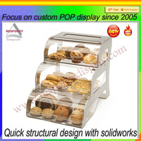 Food display clear acrylic bakery display counter