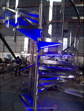 spiral staircase steel-tempered glass spiral staircases LED steel-tempered glass spiral staircases TS-357