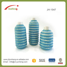 Garden country porcelain stripe wholesale tall blue and white vases for flower