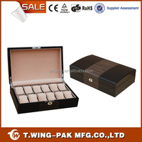 luxury custom-made wood watch case,watch box case ,watch packaging box for 12 watches