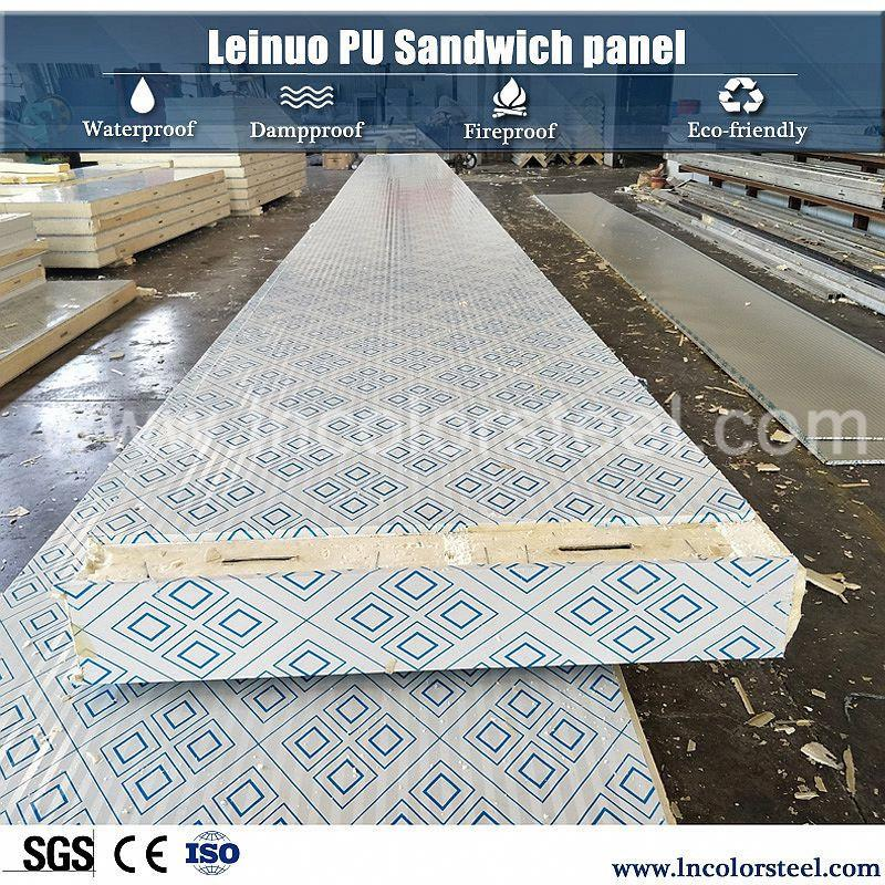 coldroom insulated pur foam sandwich panel for warehouse/pu sandwich panel
