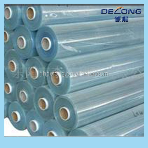 delong super clear /normal clear pvc/ soft hardness transparent pvc film for packing bags