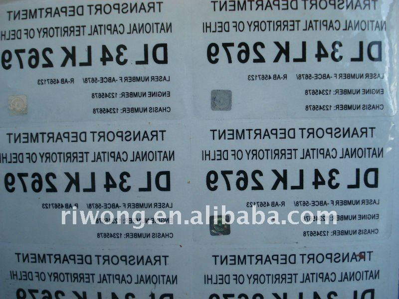 windshield sticker,india license plate,india registration number plate
