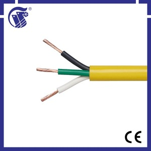 3 core flexible pvc insulated 0.5mm2 electrical cable wire