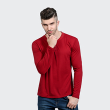 NEW <strong>design</strong> t shirt long sleeve for man L/C payment shirt slim fit casual T shirt