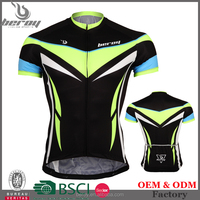 BEROY low MOQ wholesale cycling shirts, cheap short sleeve bicycle jersey