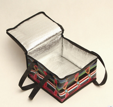 promotional insulated 6 can lunch bag frozen food aluminium foil bag cooler bag