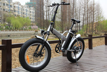 Euro market fat tyre 20*4.0inch electric mountain bike with folding frame in dirt road