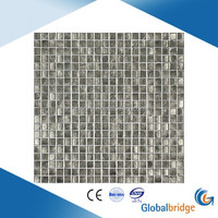 Sliver foiled glass wall mosaic