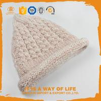 Hot selling cute crochet beanie hat with braid