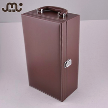 Luxury single color classical leather wine gift box,professional gift set wine box
