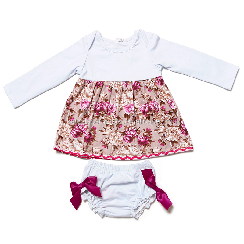 High Quality Fall Boutique Newborn Girls Clothing