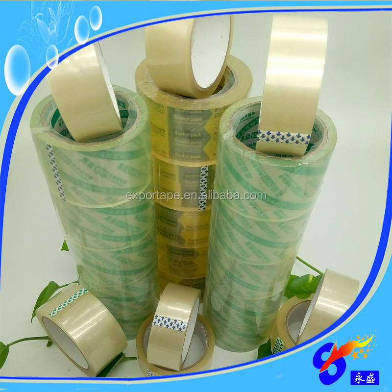 China supplier water solvent based acrylic bopp adhesive tape for carton sealer