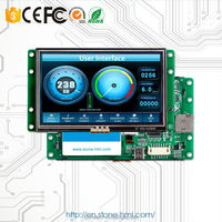 RS232/ RS485/ TTL 7 inch smart tft lcd 800*480 4-wire resistive touch with industrial temperature specifications