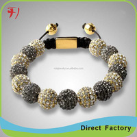 wholesale natural stone carnelian tiger eyes mix and metal gold ball shamballa bracelet