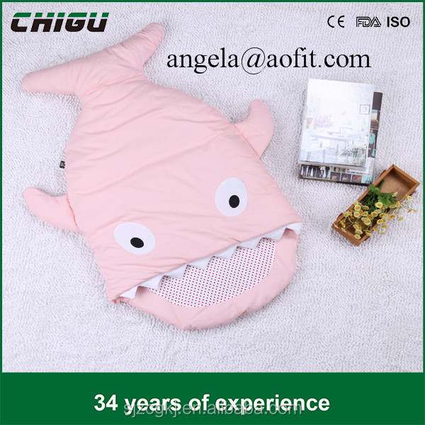 Hot Selling Baby Sleeping Bag Shark Sleeping Bag Used in Outdoor Stroller or air-conditioned room-Summer/Winter Dual Use