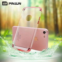 3 in 1 removable plating pc protective soft clear tpu mobile phone case for iphone 7 2017 hot selling tpu
