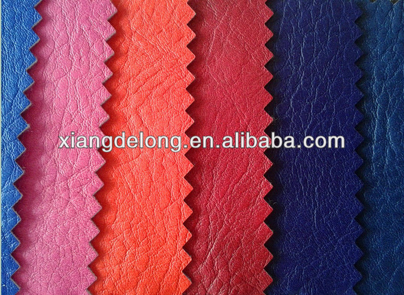 Polishing Embossed PU Synthetic leather for men shoes