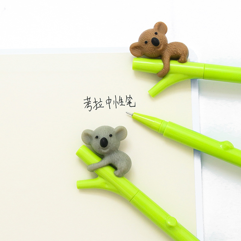 0.38mm Creative Cute Koala Branches Black Ink Gel Pen Signing Pen Writing Tool School Office Supply Student Stationery