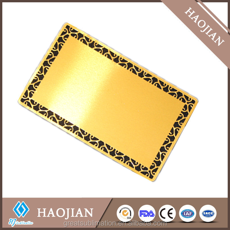 sublimation blank aluminum business card