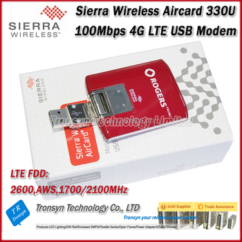 Original Unlock Sierra Wireless Aircard 100Mbps 4G WiFi Dongle USB Modem 330U Support LTE FDD 1700/2100/2600MHz
