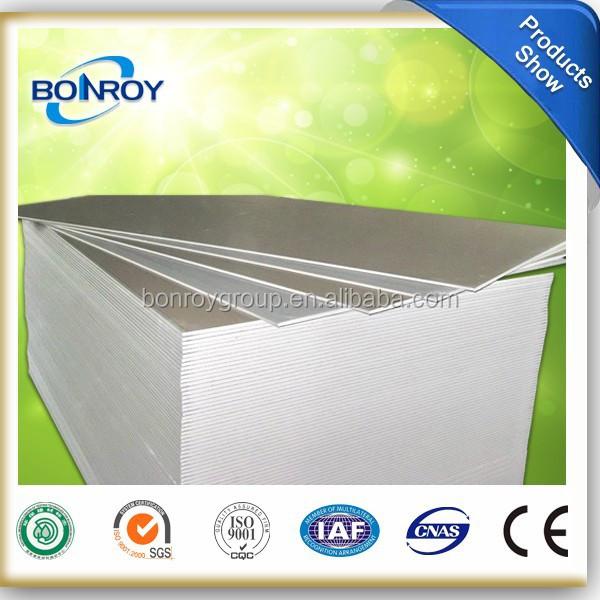 9- 12mm 2x4 Standard Paper Ceiling Gypsum Board Price
