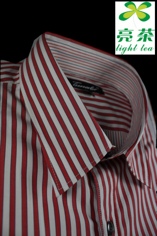 100% Cotton yarn dyed stripe Men's Shirt