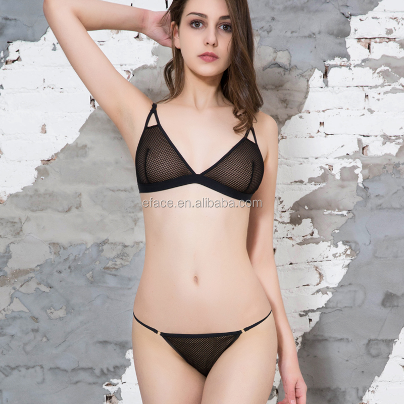 simple bra and panty set sexy black lingerie