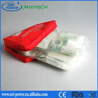 Promotional DIN13167 Germany CE FDA ISO approved cheap compact bicycle outdoor travel first aid bag