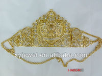 Hot selling queen crowns wedding tiaras and crown gold headband
