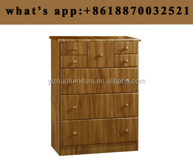 Factory Price MDF five layers chest of drawers with mirror latest wooden chest drawer cabnit