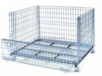 Hengtuo Heavy Duty Steel Wire Mesh Pallet Bin With Pallet Truck