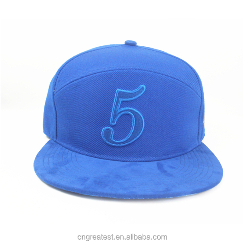 Custom Special 6 Panel Hat, Embroidery Wool Leather Strapback Hat
